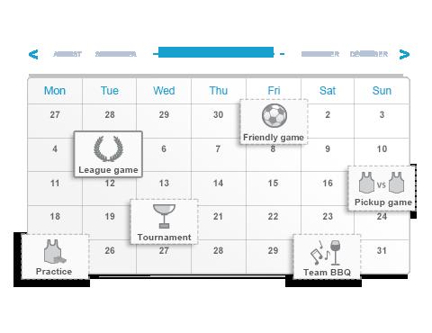 Organiseer de trainingen en wedstrijden van je team