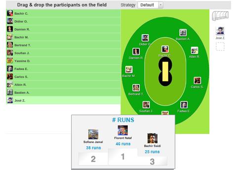 Organizzazione delle partite e allenamenti della tua squadra di cricket