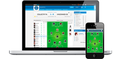 A website and a mobile app for your amateur sports team