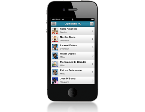 Application mobile (iPhone, Android) pour la gestion de votre équipe