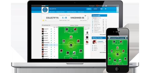 Jūsų mėgėjų sporto komandos internetinė svetainė ir mobilioji programėlė