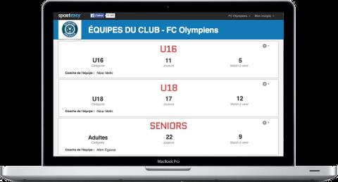 Un sito internet e un applicazione mobile per la tua squadra di sport amatoriale.