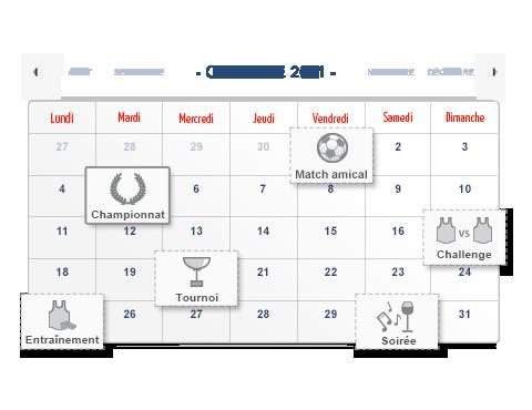 Organisation des matchs et entraînements de votre équipe